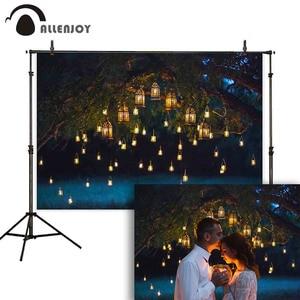 Image 1 - Allenjoy photographie toile de fond nuit mariage couple vintage paillettes bougie arbre arrière plan photo photophone photocall shoot accessoires
