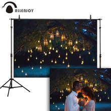 Allenjoy photography backdrop night wedding couple vintage glitter candle tree background photo photophone photocall shoot props
