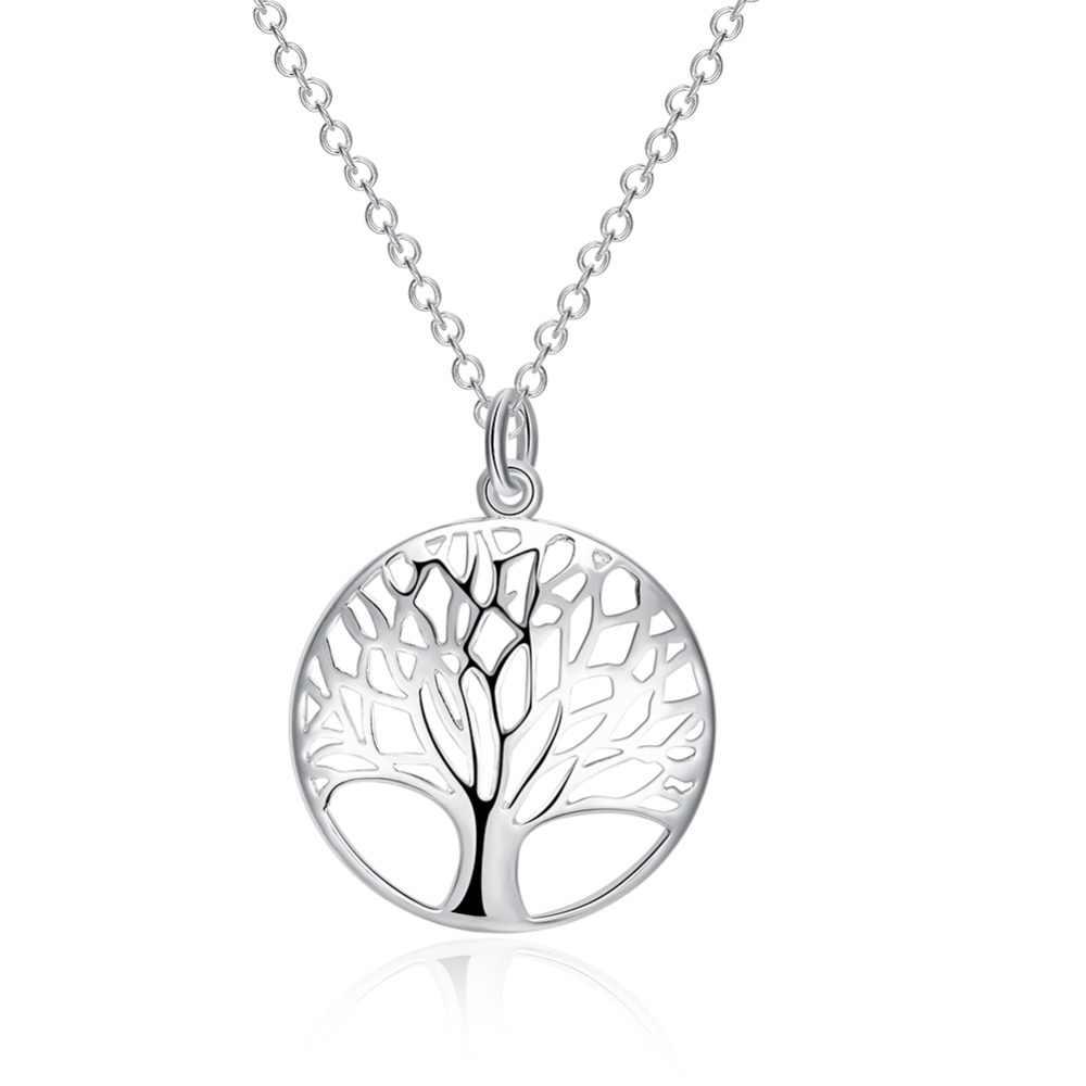 925 biżuteria srebrna dama naszyjnik i wisiorek drzewo życia obraca się wokół tłumu N802 stracił pieniądze promocje!