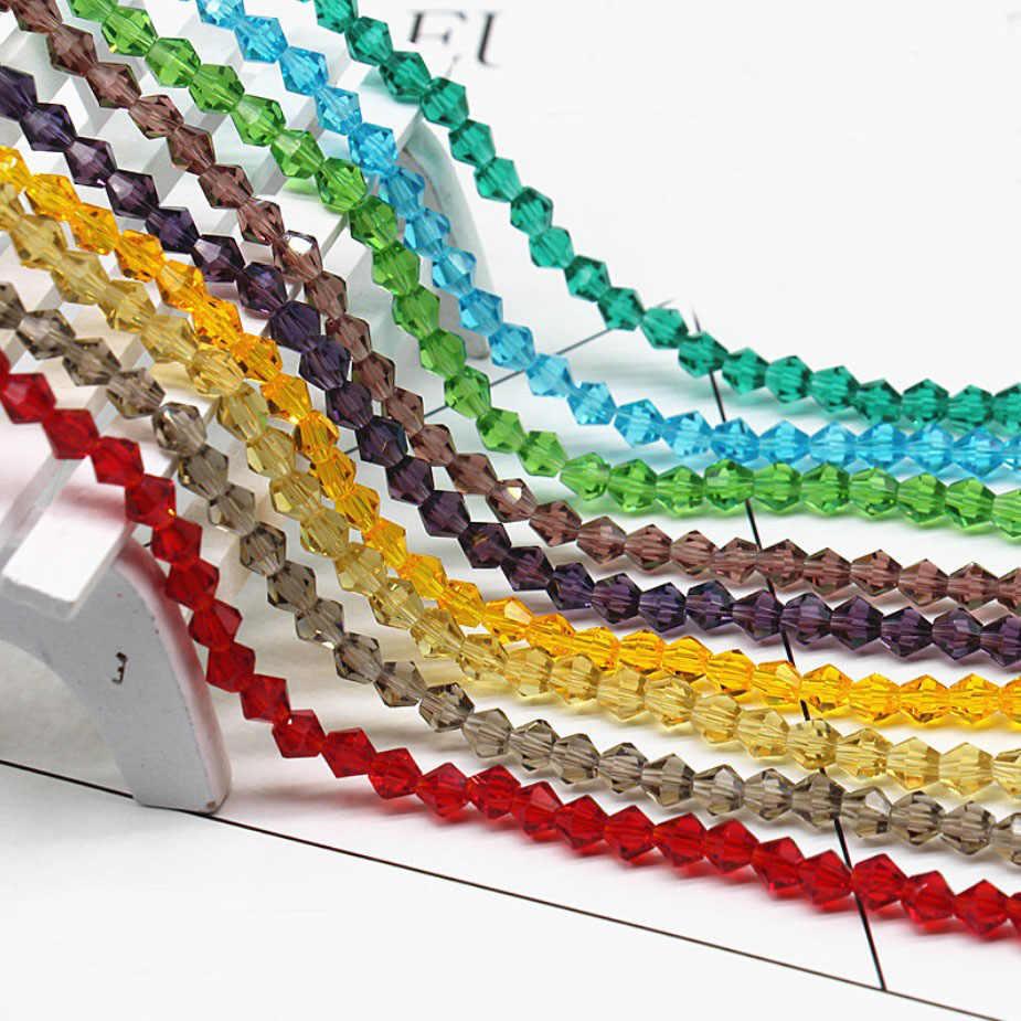 Frete Grátis multi color 4 milímetros 118 PCS Checa Vidro contas de cristal, grânulos de cristal losango, colar pulseira Jóias Fazer