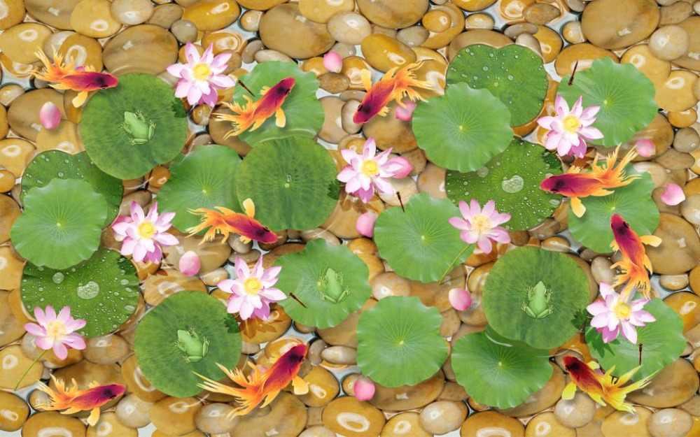 3D занавеска s для спальни желтая булыжница зеленый лист лотоса розовый Лотос 3D занавеска для ванной комнаты 3D занавеска затемненная