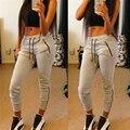 2016 Мода женщины Брюки Твердые повседневная Полная длина сексуальная девушка Горячая Стиль штаны женщины pantalones mujer
