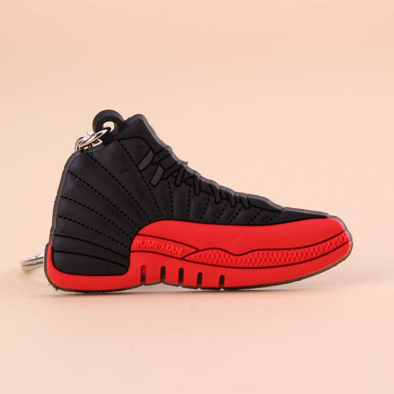 Nuevo Mini Jordan 12 llavero zapato hombres Wome niños llavero regalo baloncesto llavero de zapatilla llavero Porte Clef