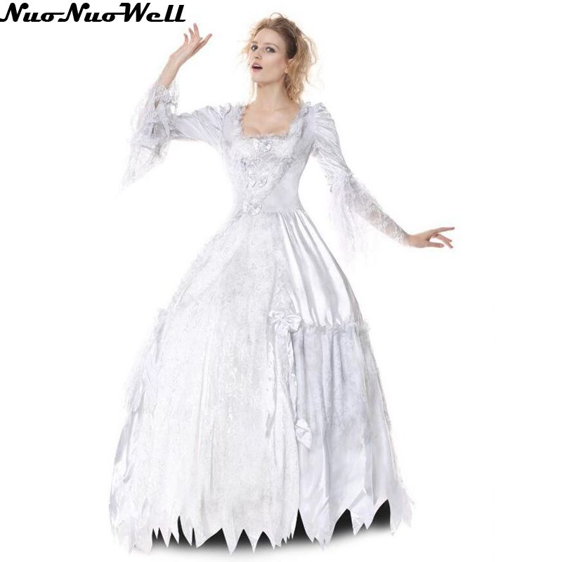 Horrible Ghost Bride Long Dress Halloween Zombie Wedding
