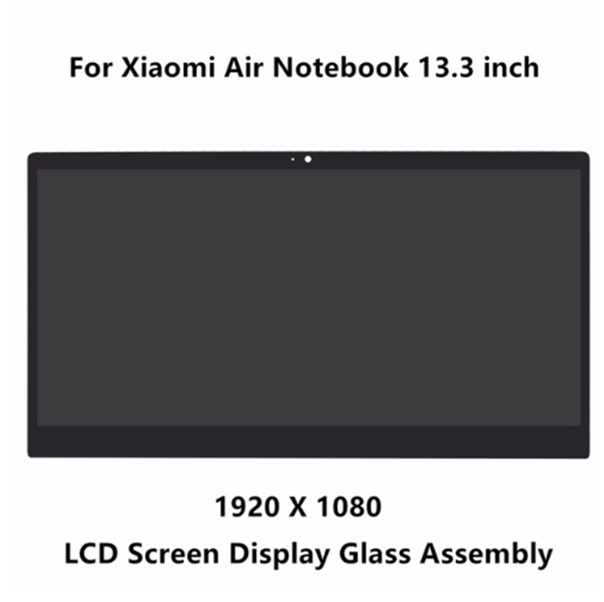 13.3'' front glass led lcd display screen matrix assembly with bezel for Xiaomi LTN133HL09-W LQ133M1JW15