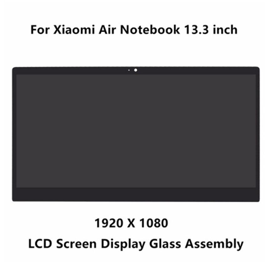 13.3'' front glass led lcd display screen matrix assembly with bezel for Xiaomi LTN133HL09-W LQ133M1JW15