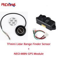 RCmall TFmini Lidar Range Finder Sensor And Ublox NEO M8N GPS Compass Module For Pixhawk4 Flight