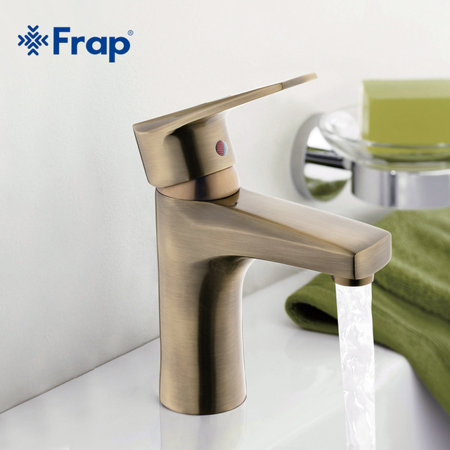 Frap Bronze Basin faucet Brass body Faucets Mixed hot and cold water ...