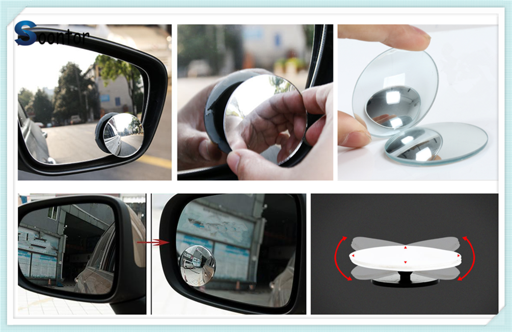 PEUGEOT 208 2012--/>/> Wide Angle Rear View Car Mirror Clip On