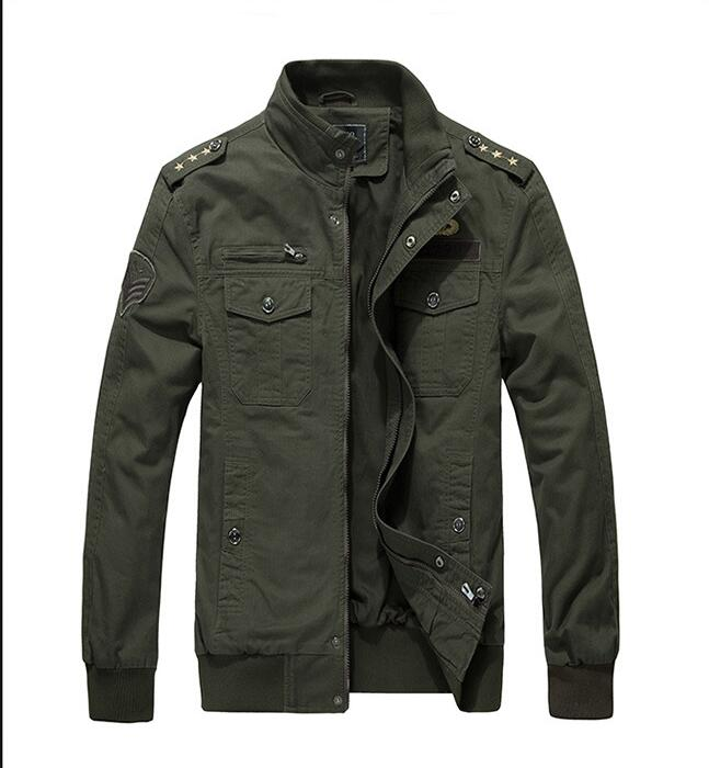 Autumn new fashion men slim fit jacket Khaki 2017spring jacket men bomber jackets Army green military jacket men plus size M 4XL