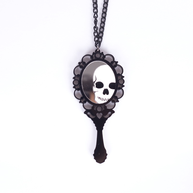 Acrylic Jewelry laser Dead pretty skull pendant necklace-in Pendant  Necklaces from Jewelry   Accessories on Aliexpress.com  2bfcd775acaa