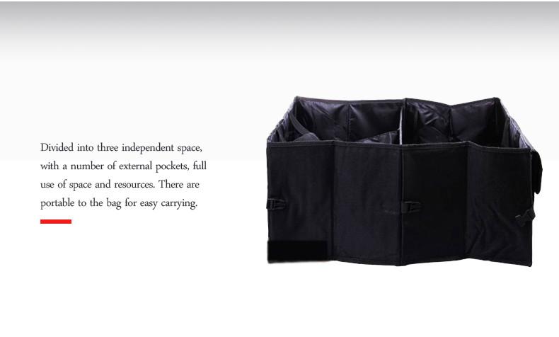 Auto Supplies Car Back Folding Storage Box Multi-Use Tools Organizer Car Portable Storage Bags Black 11