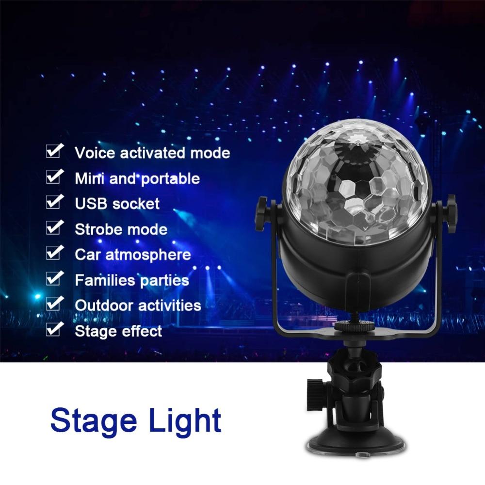 UnabhäNgig Multi Beleuchtung Modus Usb Aufladbare Magische Led Licht Auto Stimme Aktiviert Lampe Für Bühne Disco Tragbares Audio & Video