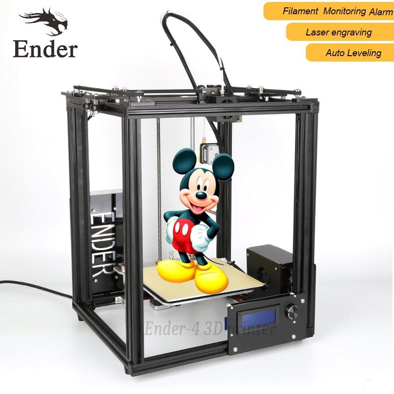 2018 Vente Chaude Ender-4 3d imprimante laser, Auto Nivellement, Filament Surveillance D'alarme protéger, Prusa I3 3D imprimante n 5 M filament + Foyer