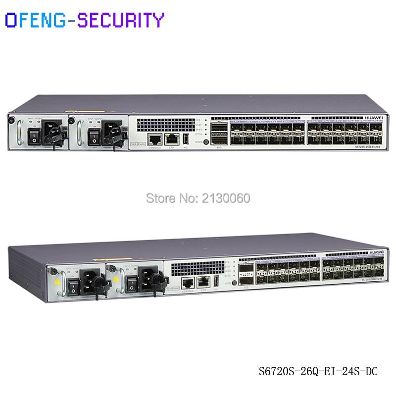 Ethernet Gigabit Switch 24 Port Original Huawei  S6720S-26Q-EI-24S SFP+10G Gigabit Enternet Switch 24 Ports S6720S-26Q-EI-24S-AC
