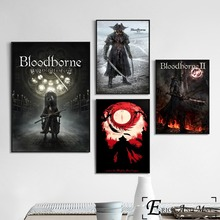 Bloodborne Dark Hunter Game Posters and Prints Wall art Decorative Picture Canvas Painting For Living Room Home Decor Unframed