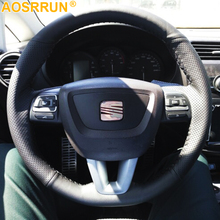 Car accessories Leather Steering Wheel Cover For Seat Leon Alhambra Toledo 2011 2010 2012