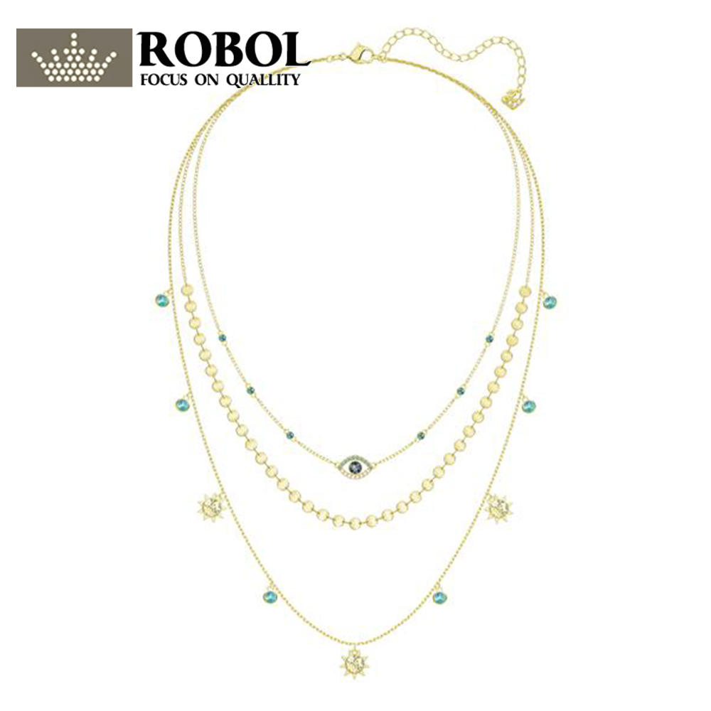 ROBOL New Woman Jewellery Swa  LAST SUMMER LAYERED Devils Eye Charm 3-Laps Necklace 5368029 Fine JewelryROBOL New Woman Jewellery Swa  LAST SUMMER LAYERED Devils Eye Charm 3-Laps Necklace 5368029 Fine Jewelry