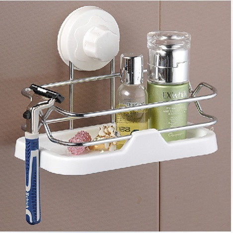 Suction Shower Shelves/shower caddy with suction cup/suction shower rack stainless steel