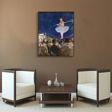 Laeacco Canvas Calligraphy Painting European Ballet Girl Portrait Vintage Poster Decorative Wall Artwork Pictures for Home Decor