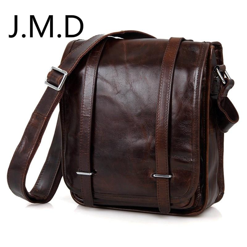 J.M.D Real Leather Sling Bag For Men Messenger Shoulder Bags Cross Body Bags JMD Leather Bags Handbags 7109 hot sale high quality vintage cross body jmd men leather messenger bags shoulder bags 7121c