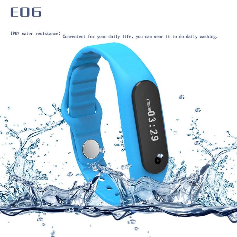 все цены на New E06 Smart Watch Fitness tracker Bluetooth 4.0 Smartwatch fit bit flex Sports Watch for ios android better than mi band онлайн