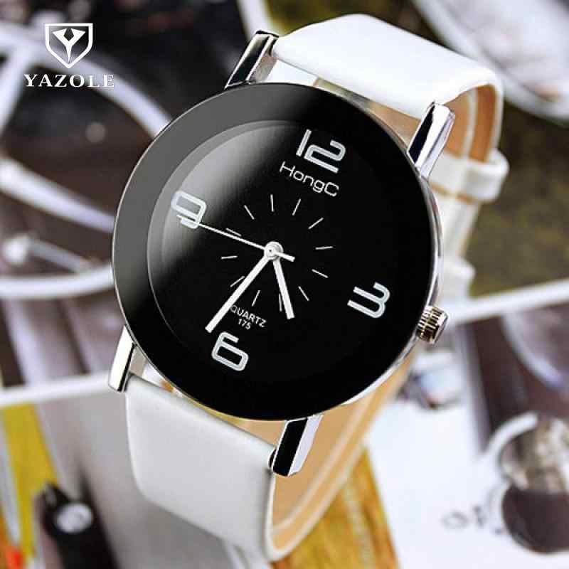 2018 YAZOLE модные наручные часы модные уникальные часы с кожаным ремешком женские кварцевые часы под платье