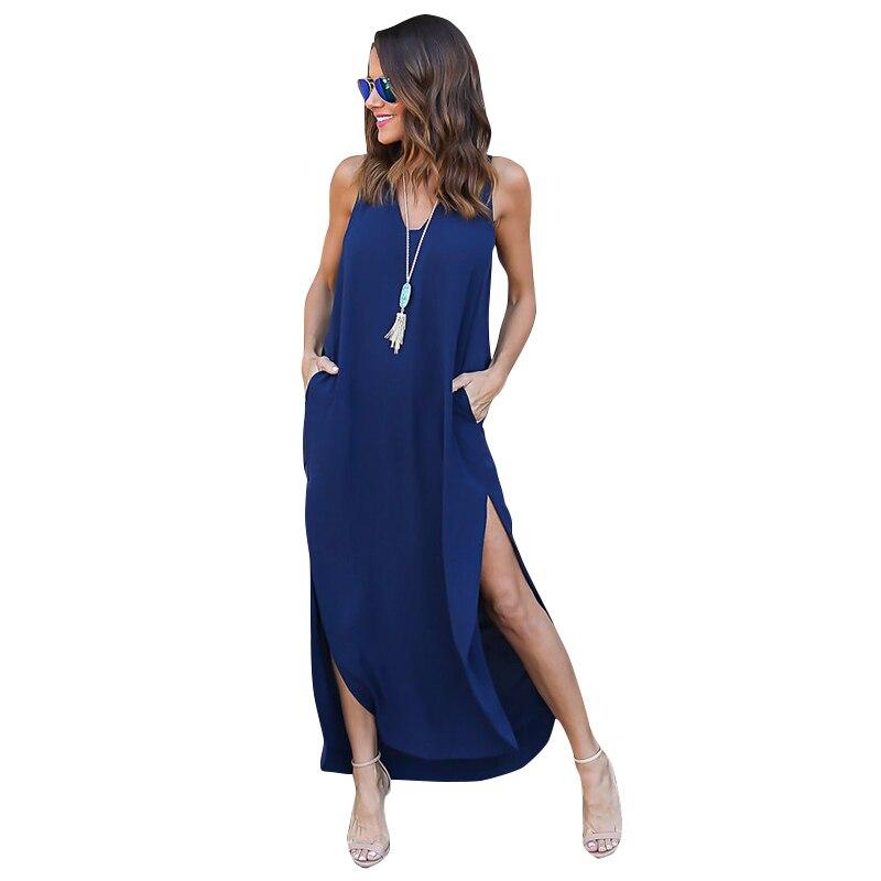 Bohemian Style Shirt Dress Long Beach Dresses High Splits Loose Casual Dress Vestidos De Fiesta 2017
