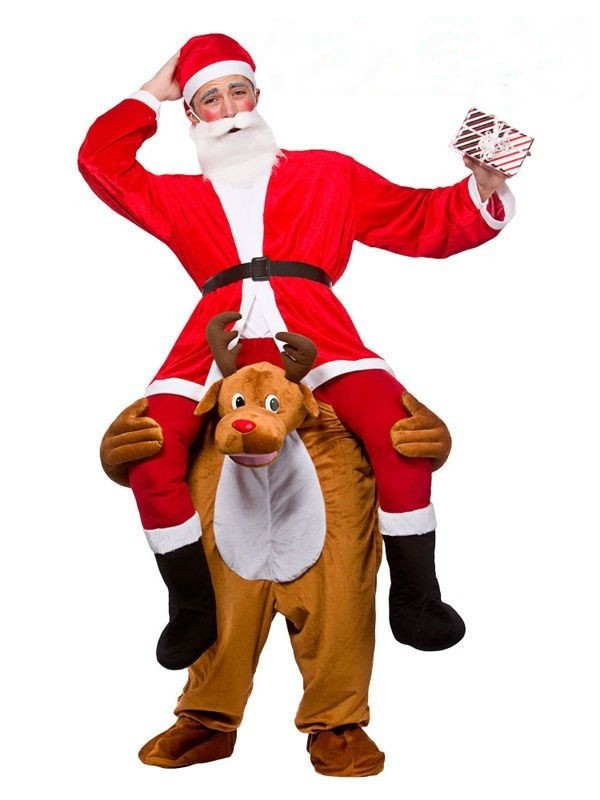 2017 new style Halloween Inflatable Santa Claus Costume for Adult red Color Cosplay Costume For Men