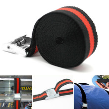 2.5m Tow Tie-Down Strong Motorcycle Ratchet Heavy Duty Car Luggage Elastic Rope Bike Cargo Strap Trailer Belt Accessories Buckle s shape metal hook cargo binding band ratchet tie down strap 10m 33ft gray