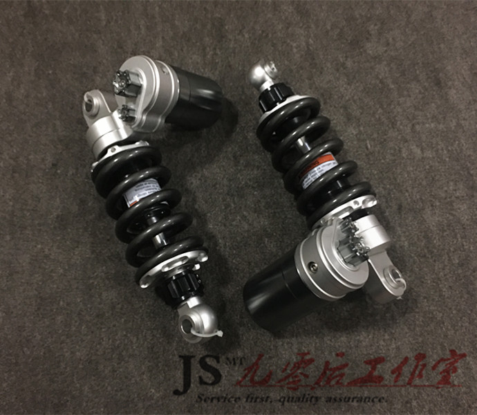 For Kawasaki Z125 motorcycle modified gas cylinder airbag adjustable damping three-color rear shock absorbers motorcycle electric motor speed modification battle calf fight three generation bws damping adjustable shock dj1 horse