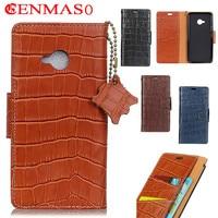 Genuine Leather For HTC U11 Life Flip Case 5 2 New Crocodile Grain Luxury Wallet For