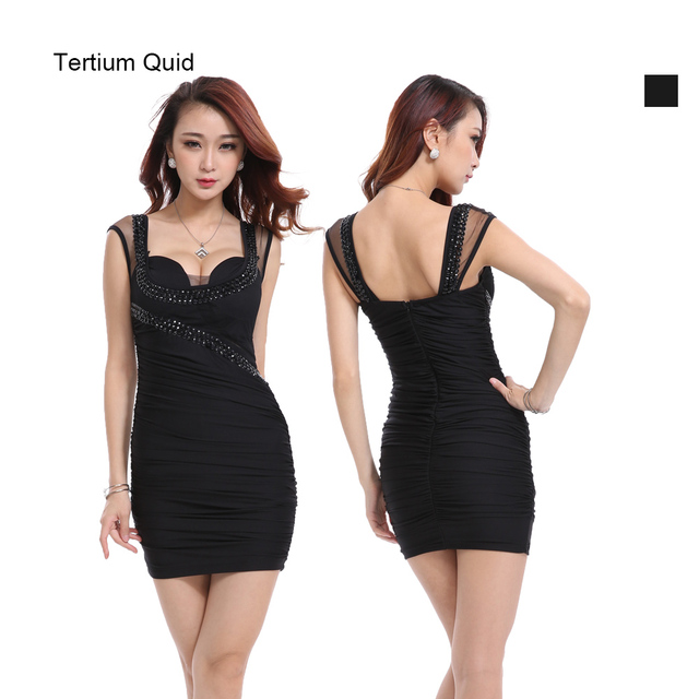 Lady Sexy Dress Short Tight Luxury Club Satin Women Clothes Party