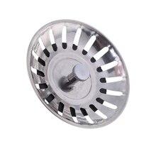 Kitchen Waste Stainless Steel Sink Strainer Plug Drain Filter Stopper Basket Drainer L15