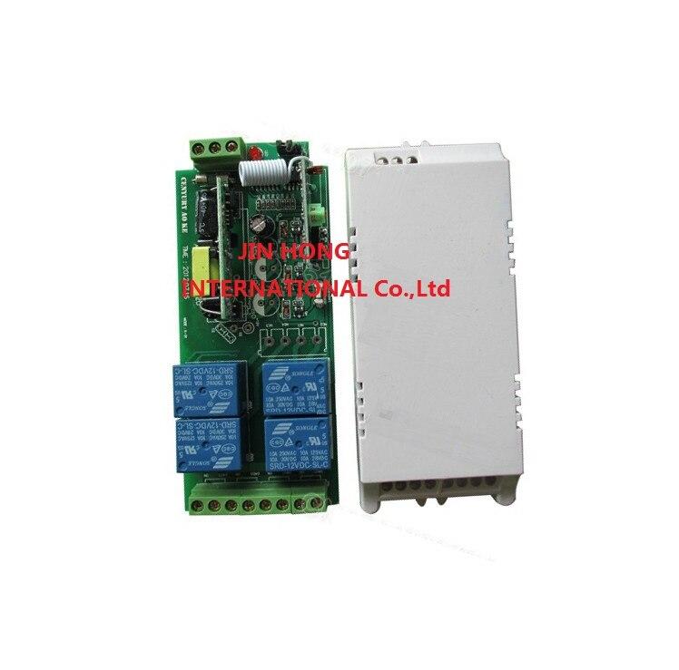 85 В ~ 250 В 4ch rf Беспроводной Дистанционное управление реле безопасности Системы Garage Дверные рамы 1 x приемник и 6 X передатчик