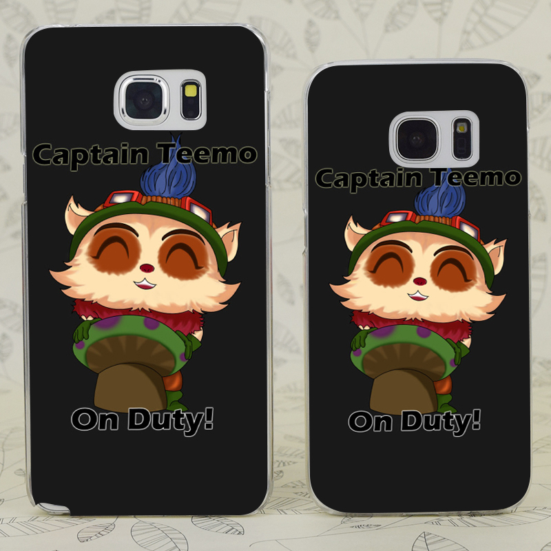 C3078 Captain Teemo On Duty Transparent Hard PC Case Cover For Samsung Galaxy S 3 4 5 6 7 Mini Edge Plus Note 3 4 5 7
