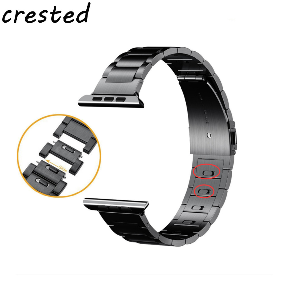 CRESTED 2018 new link bracelet strap for apple watch band 42 mm/38mm stainless steel watch strap for iwatch 3/2/1 metal band crazy toys aquaman arthur curry pvc action figure collectible model toy 10