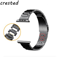 CRESTED 2018 New Link Bracelet Strap For Apple Watch Band 42 Mm 38mm Stainless Steel Watch