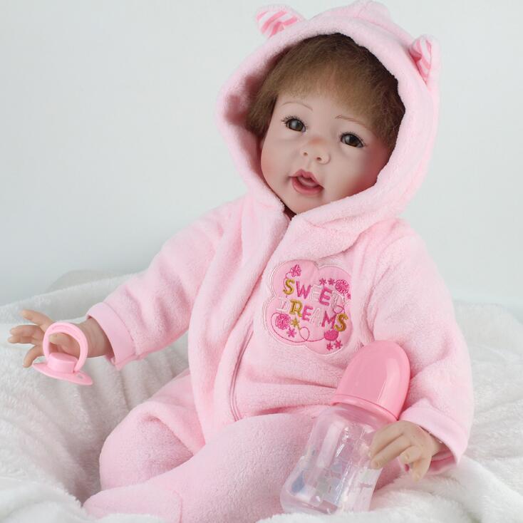 20 inch silicone reborn dolls Reborn Silicone Baby Dolls For Sale Lifelike Dolls Education Toy Real Baby Lifelike Bebe Reborn недорго, оригинальная цена