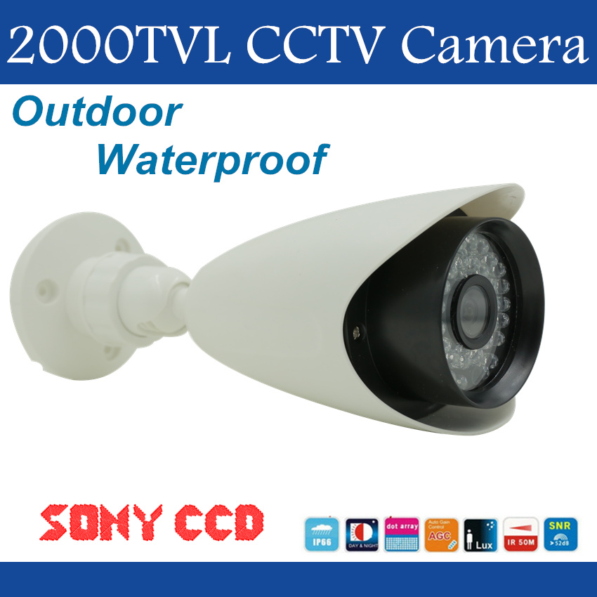 ElitePB Waterproof IP66 2000tvl CCTV Camera 1/3 Sony CCD with Night vision Day/Night Home Protection IR distance 50m Freeship advanced 128gb cctv camera 50 meters night vision waterproof housing