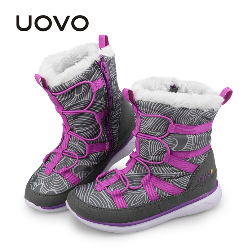 UOVO 2019 New Kids Boots Fashion Snow Boots Children Sport Shoes Beatiful Boys And Girls Short Boots With Eur Size #28-37