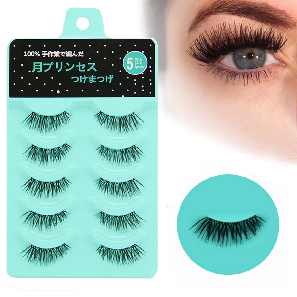 5 Pair Lashes Extension Artificial Fiber Handmade Party Makeup Charming Professional Natural False Eyelash Reusable Cosmetic