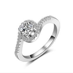 S925 стерлингового-серебро-ювелирные изделия Кольца для Для женщин Ювелирные украшения классический кольцо обручальное Обручение