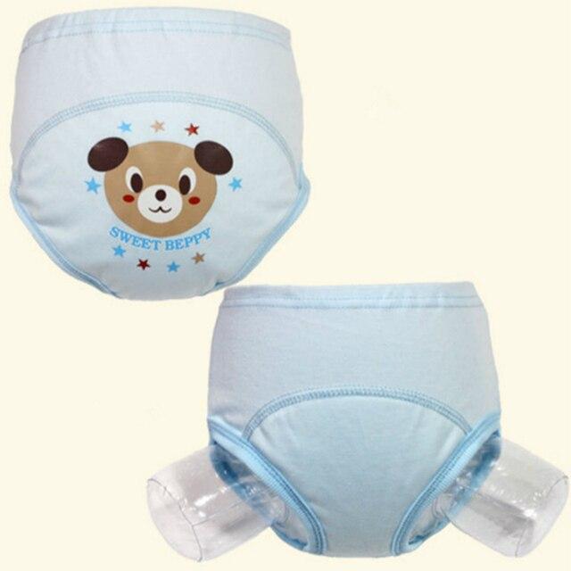 54979715be4fb Random 1-2 Years Old Baby Diaper Waterproof Breathable Kid Pants ...