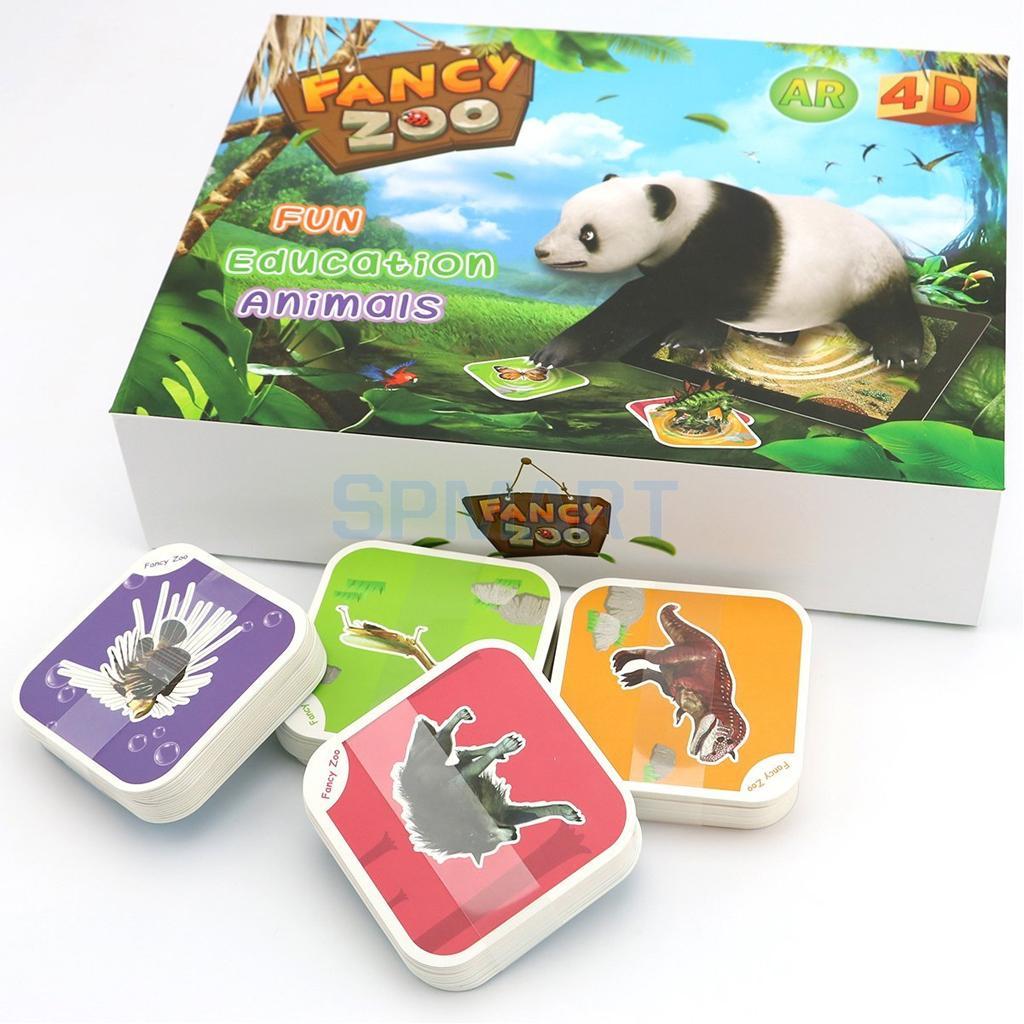68Pcs AR 4D Fancy Zoo Magic Augmented Reality Flashcards Animal ...