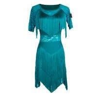 Latin Dance Dress Competition Performance Wear Ladies Fringe Dresses Salsa Samba Rumba Practice Dancing Clothes Women DN2467
