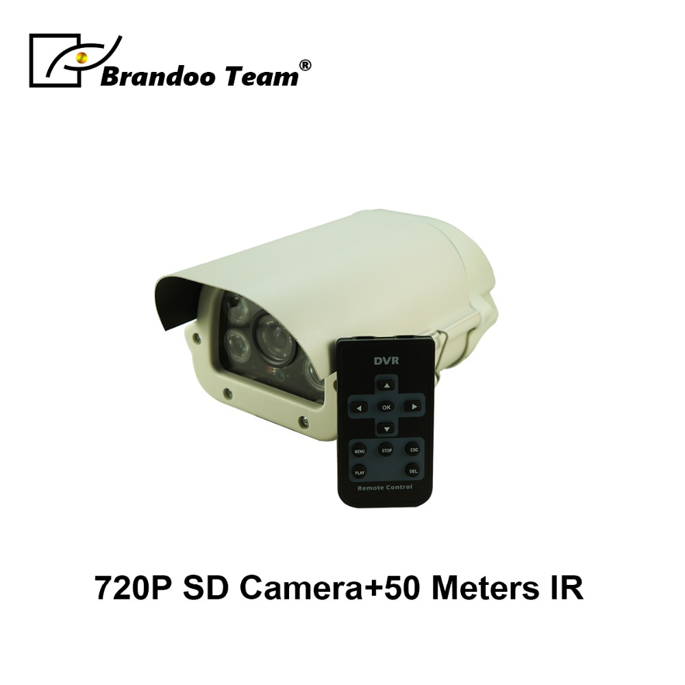 Waterproof 720P HD SD CCTV Camera Support 50 Meters Night Vision Motion Detection 128GB SD Card Outdoor Surveillance Camera outdoor waterproof wifi ip camera 1920x1080p hd 2 0 mp wireless sd card 64g infrared night vision motion detection cctv camera