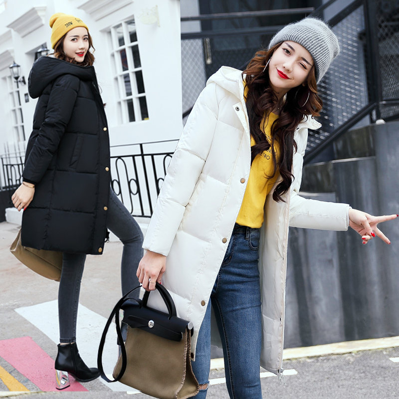 New style 2017 Winter Coat Women Slim Plus Size Outwear Medium-Long Wadded Jacket Thick Hooded Cotton Fleece Warm Cotton Parkas winter women down jacket hooded thick warm cotton coat large size new style casual jacket slim long sleeve medium long coat 2580