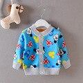 Baby coat 2016 Autumn Boys and Girls Cotton Long sleeve cardigan Baby Cartoon Warm jacket