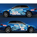 Авто стиль на заказ японская игра-Аниме Itasha наклейки гоночная Мику наклейки для ралли 3D наклейка Водонепроницаемая защитная пленка